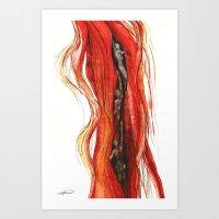 Hair swimmers Art Print