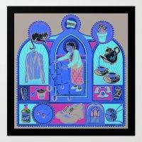 Ye Oldé Grandma Triptyc… Art Print