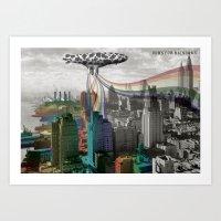 Cows For Rainbows Art Print