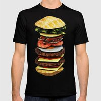 Graphic Burger Mens Fitted Tee Black SMALL