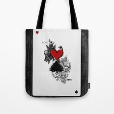 Love Hate Tote Bag