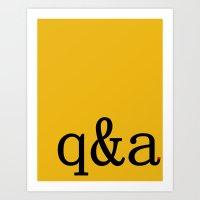 Q&A Art Print