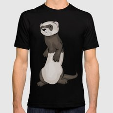 Wild Ferret Black Mens Fitted Tee SMALL