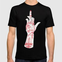 RUDE Mens Fitted Tee Black SMALL