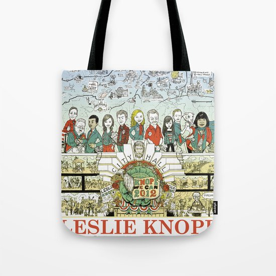 Leslie Knope for City Council - Parks and Recreation Dept. Tote Bag