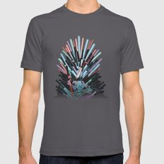 Throne Wars SMALL Mens Fitted Tee Asphalt