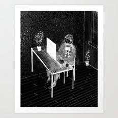 Virtual Space Travel Art Print