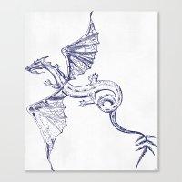 A Dragon's Tale Canvas Print