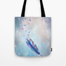 Feathered Birds Tote Bag