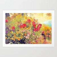 Colorful Flower Basket P… Art Print