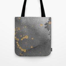 Gray and gold Tote Bag