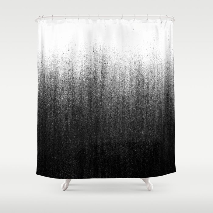 charcoal ombr shower curtain by caitlin workman society6