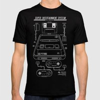 SNES PAL Mens Fitted Tee Black SMALL