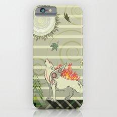 A wolf on fire Amaterasu Slim Case iPhone 6s