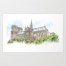 Once in Paris Art Print