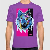 Lazer Wolf Mens Fitted Tee Ultraviolet SMALL