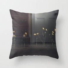 Flowers on the Floor Throw Pillow
