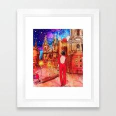 Meet Me In Prague Framed Art Print