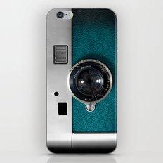Classic Retro Blue Teal … iPhone & iPod Skin