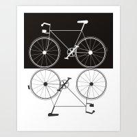 Two Bikes Art Print