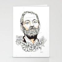 bill murray Stationery Cards featuring Bill F***ing Murray. by ellaclawley