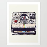 camera Art Prints featuring COLOR BLINDNESS by Huebucket