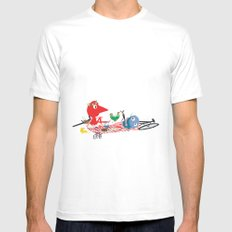 Bikers Picnic SMALL White Mens Fitted Tee