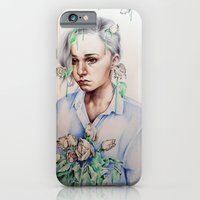 iPhone Cases featuring In Gloom/In Bloom by KatePowellArt
