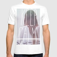Wander (Keep Calm) Mens Fitted Tee White SMALL