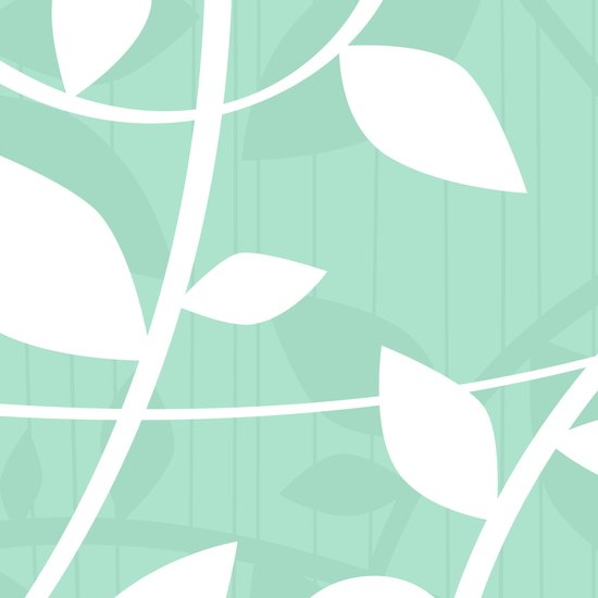 Vine pattern in Mint by Friztin Canvas Print