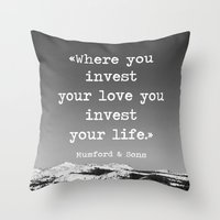 Invest Your Love Throw Pillow