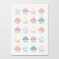 Cupcakes pattern Canvas Print