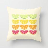 Half Citrus Throw Pillow