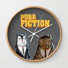 Purr Fiction Wall Clock