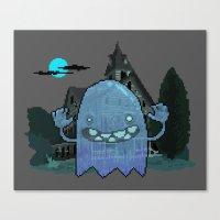Pixel Ghost Canvas Print