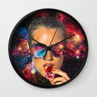 Wall Clock featuring I AM I by Eugenia Loli