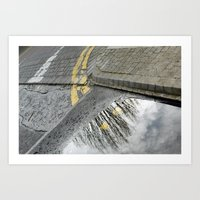 Road Tree Art Print