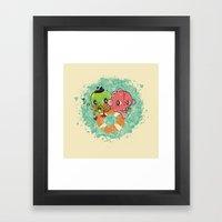 The Pond Lovers - Mr. Fr… Framed Art Print