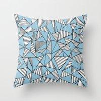 Ab Blocks Blue #2 Throw Pillow