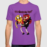 It's Wrestling Time!  Mens Fitted Tee Ultraviolet SMALL