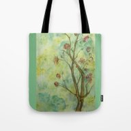 Branch With Flowers Tote Bag