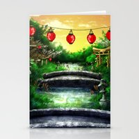 A Bridge Over Placid Waters Stationery Cards