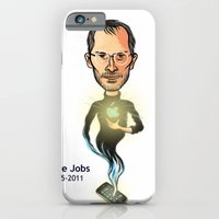 iPhone & iPod Case featuring Steve Jobs by Gilderic