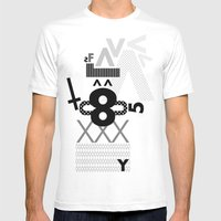 FUTURA Mens Fitted Tee White SMALL