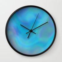 blue heaven Wall Clock