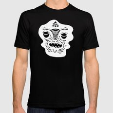 stencil face TEE invert Black SMALL Mens Fitted Tee