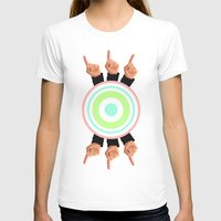 Ceilings of Sea Foam  Womens Fitted Tee White SMALL