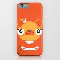 iPhone & iPod Case featuring Ms. Frenchie Queen by Tratinchica