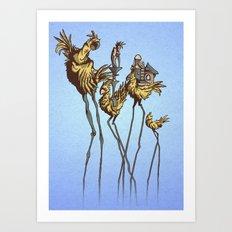 Dali Chocobos Art Print