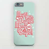 iPhone & iPod Case featuring Merry & Bright by Reg Lapid